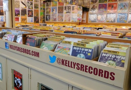 Kelly's Records shop in Cardiff Central Market