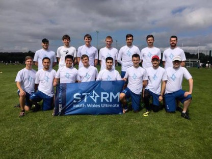 Cardiff Storm men's team at a tournament