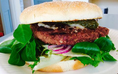 Award-winning burgers from Moody Sow farm shop