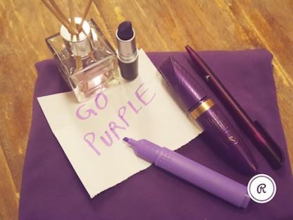 Go purple #StandUpSpeakOut