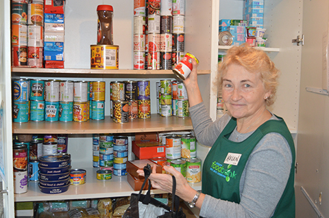 Helen Nolan is a volunteer at the City Church food bank