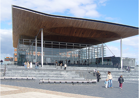 A view from outside the Welsh Assembly