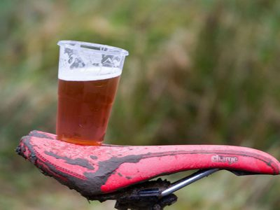 Pint on a bike, beer on a bike,