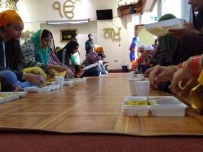Gurdwara meal time