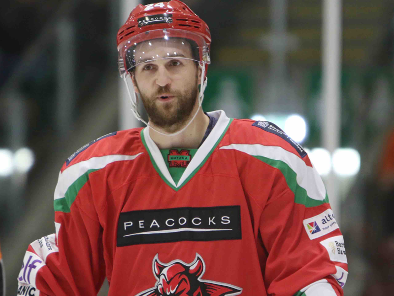 Caption: Andrew Hotham: Devils defenseman & official ambassador of LGBT Sport Cymru Ambassador
