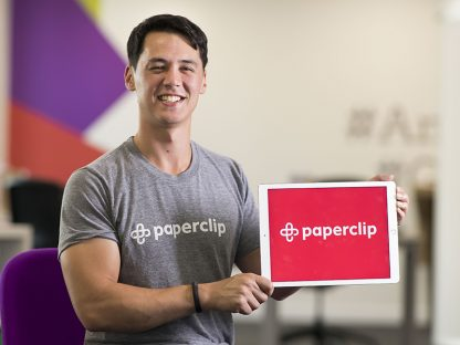 Rich Woolley, CEO and founder of Paperclip.