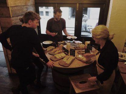Four cheeses have been selected to complement four beers provided by Siren Craft Brew