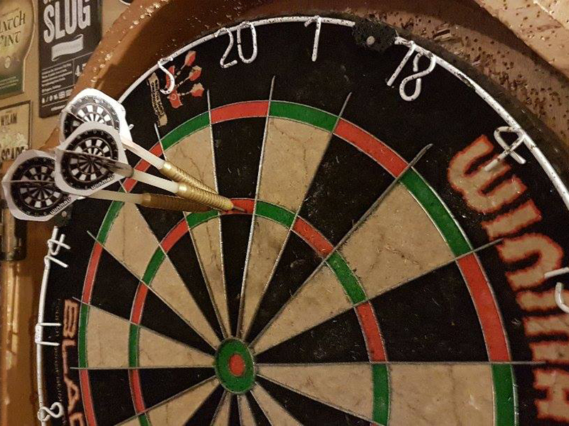 photo of darts board for changing sports for charity event