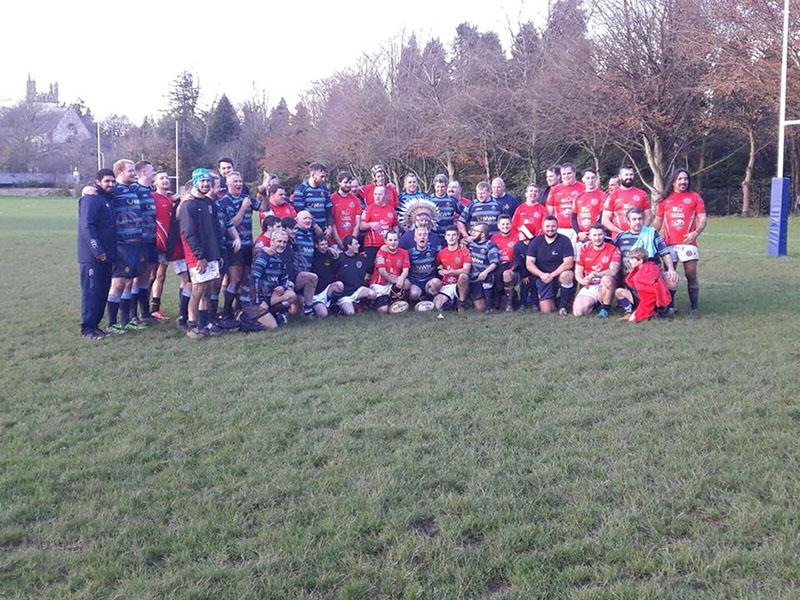 The Cardiff Chiefs beat the Llanelli Warriors but both times were all smiles
