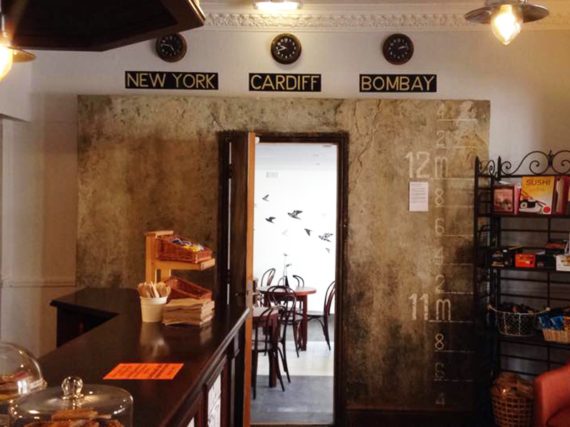 Octavo's Book Café and Wine Bar is former home of a coaching inn known as the oldest building in the Cardiff Bay area