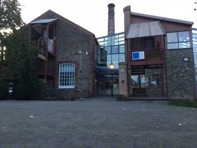 The exterior of the Rhondda Heritage Park reception building.
