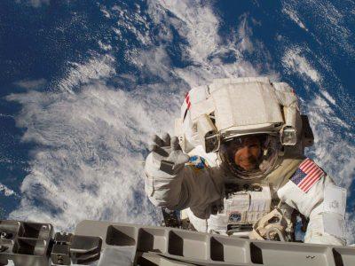 Steve on a space walk