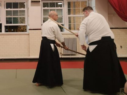 Aikido demonstration with sticks