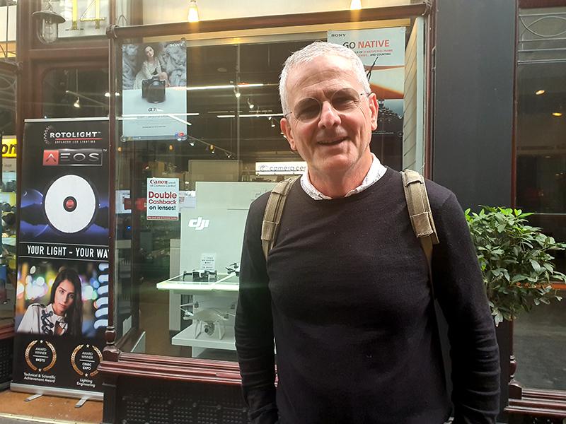 Voxpop man in Cardiff's Arcade