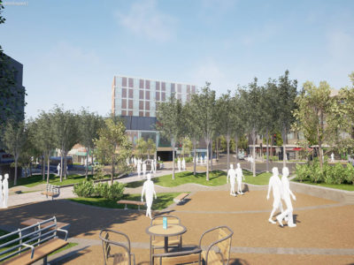 animation of Swansea Kingsway with more greenery