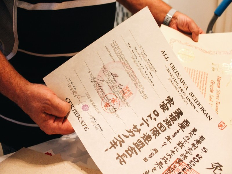 Goshinkwai Certificates