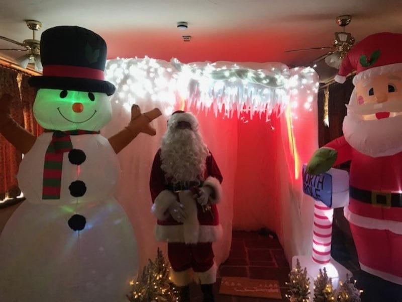 Santa at a Christmas brunch