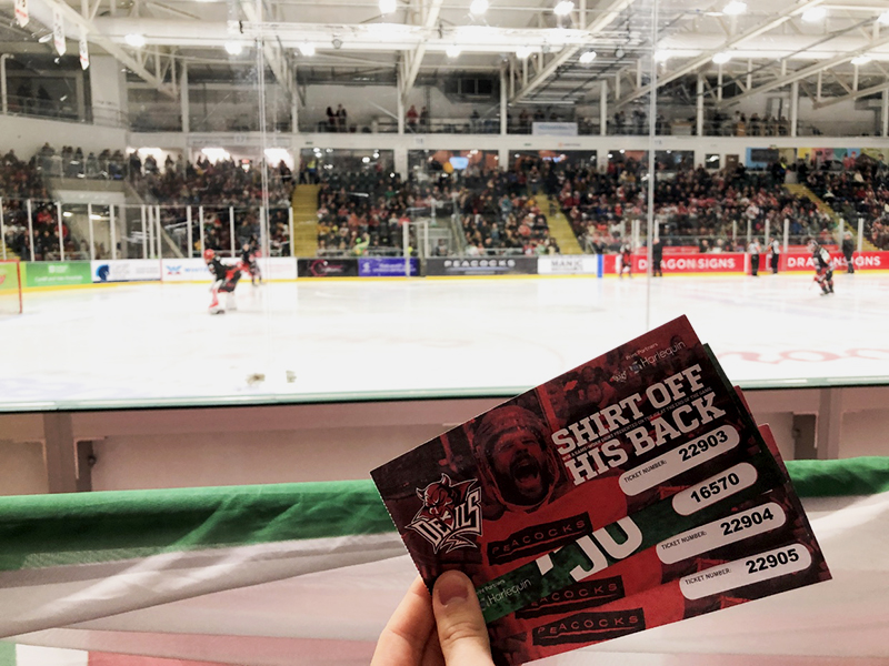 Shirt-off-his-back raffle from Cardiff Devils double-header weekend