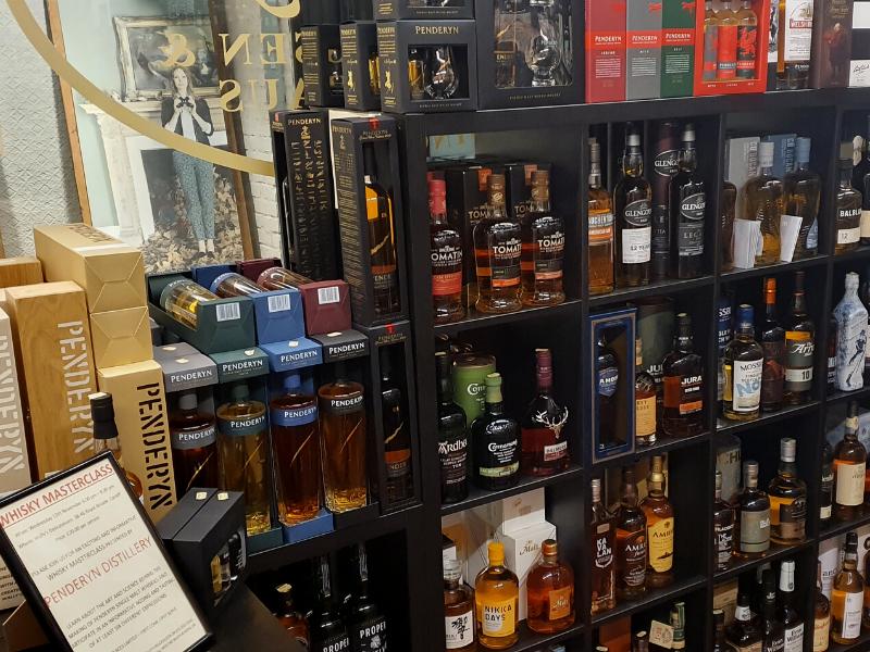 Wally's Deli spirit range featuring Penderyn whisky