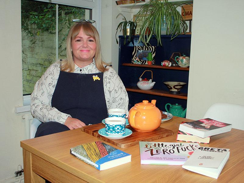 Leah Thomas founder of FLO feminist book club in Cardiff