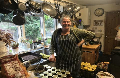 Eira stood in her kitchen smiling
