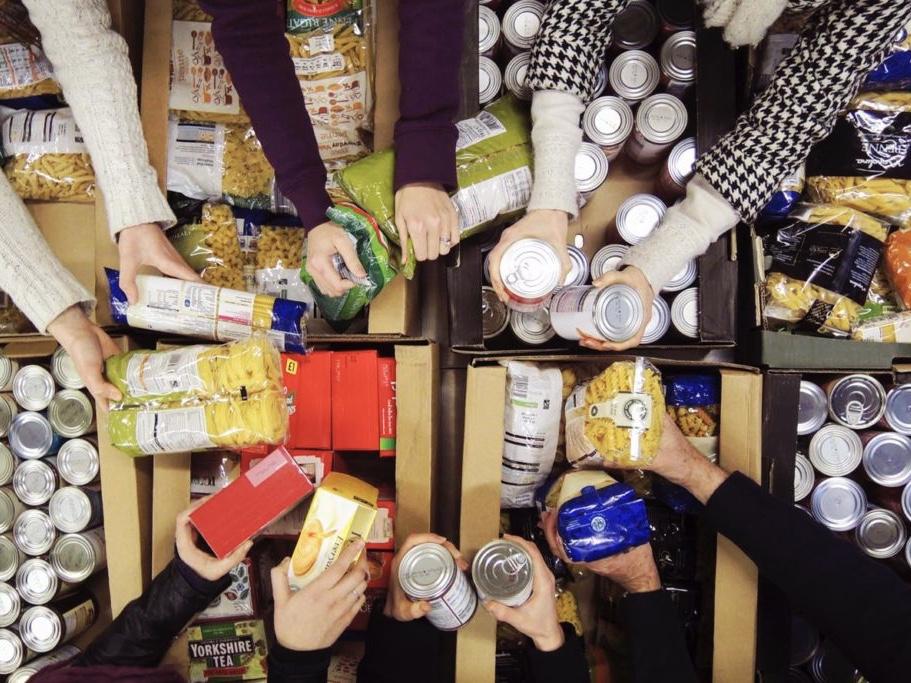 Foodbank food crisis Christmas