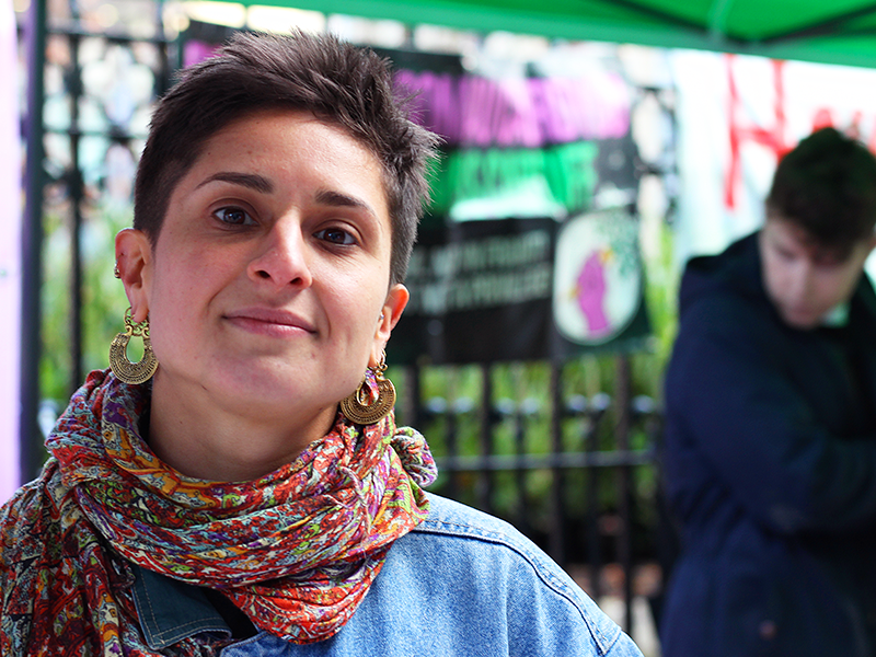 A woman who supports Extinction Rebellion argues for better food choices on Green Friday