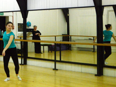 Rubicon Dance student dances in their studio on Nora street