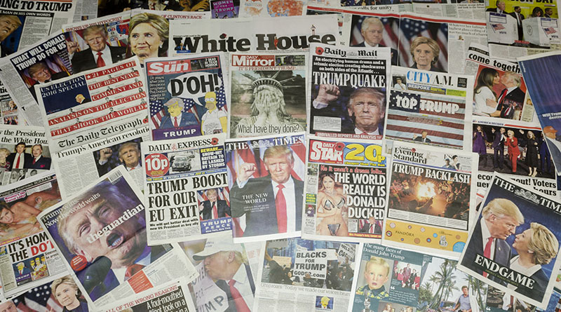 A selection of newspaper covers