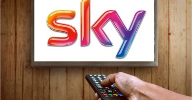 Sky TV logo on a TV screen