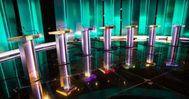 The 2017 election TV debate stage