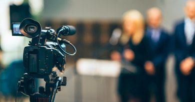 TV news camera
