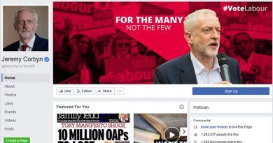 Jeremy Corbyn's Facebook page