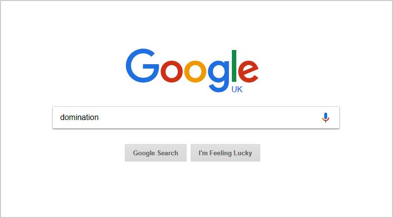 Homepage of Google.com