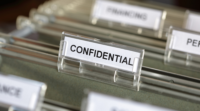 A confidential file