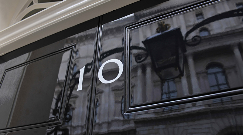 The front door of number ten Downing Street