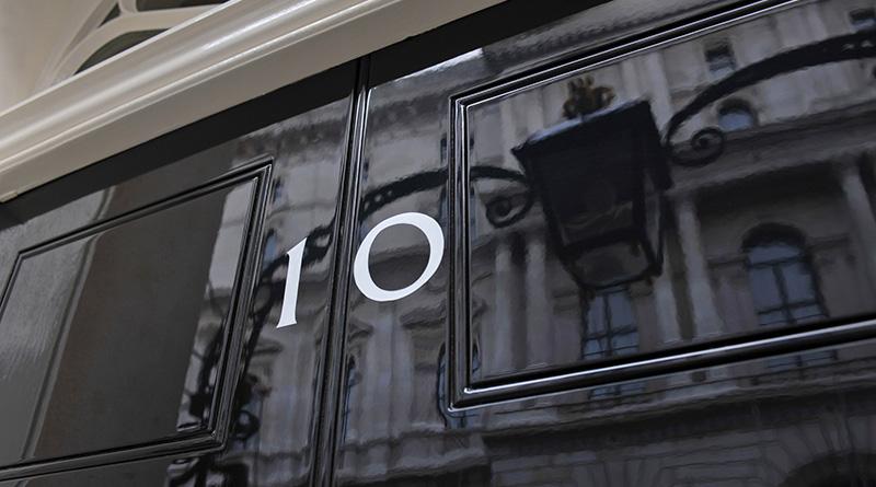 The front door of number ten Downing Street