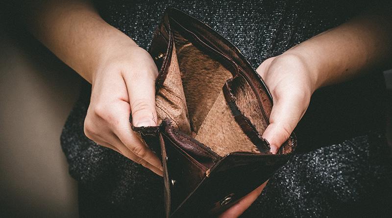 An empty open wallet