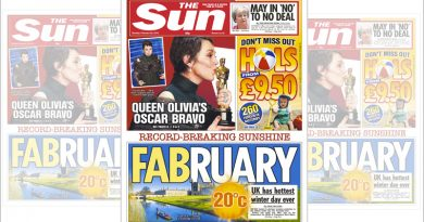 Cover of the Sun newspaper