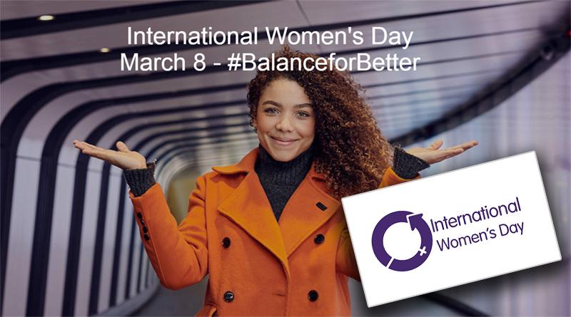 Screenshot of International Women's Day website