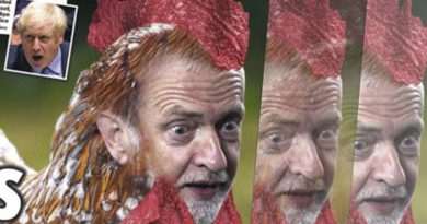 Jeremy Corbyn's face on a chicken.