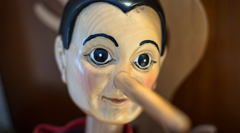 Close-up portrait of Pinocchio