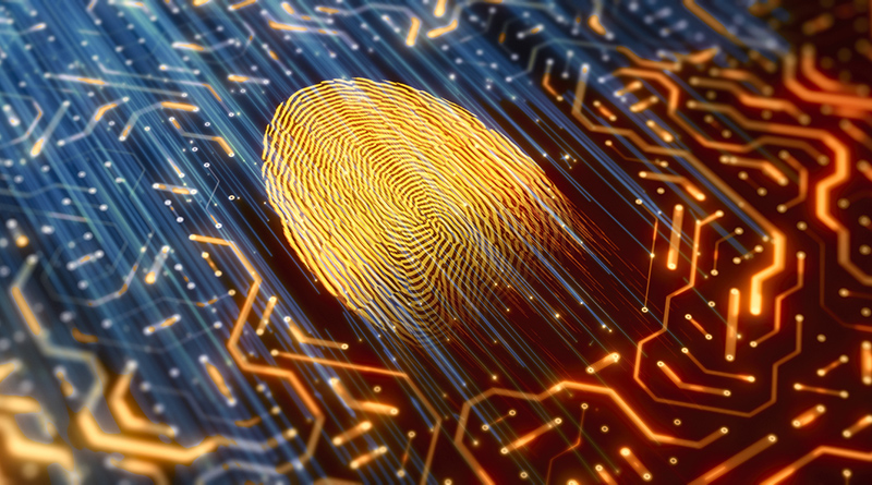 An illustration of an electronic fingerprint